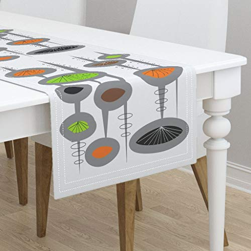 Table Runner - Atomic Era Inspired Atomic Era Space Age Atomic Era Inspired Space Age Eames Era by Hot4tees Bg Yahoo Com - Cotton Sateen Table Runner 16 x 72