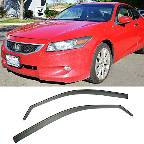 VXMOTOR for 2008-2012 Honda Accord Coupe 2 Door 2Dr Window Visors Rain Guard Deflector in-Channel V2 - Honda Accord 2 Door Coupe
