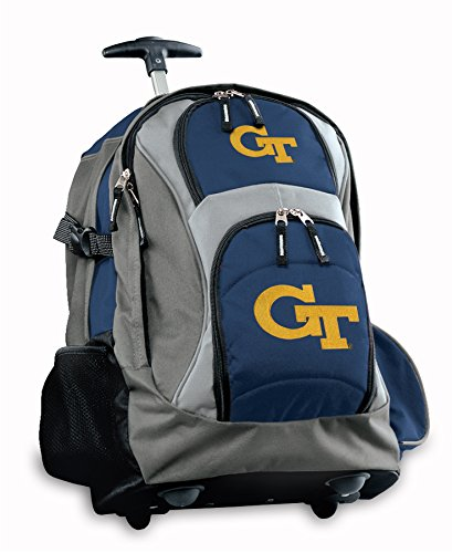 Ncaa Rolling Backpack - Broad Bay Georgia Tech Rolling Backpack or Yellow Jackets CarryOn Suitcase Bag OFFICIAL NCAA BAGS