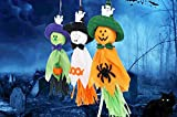 Pack of 6 Colorful Creepy Pumpkin Ghost Spider Paper Hanging Decor For Halloween Thanksgiving Bar Kindergarten Layout Party Supplies Home Decoration