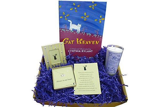 Pet Cat Sympathy Gift Box - Cat Memorial/Remembrance Basket from CometDog Designs