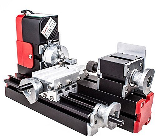 chuangsheng Mini Lathe Machine,12V Miniature Metal Multifunction Lathe Machine DIY 20000Rev/min 45135mm