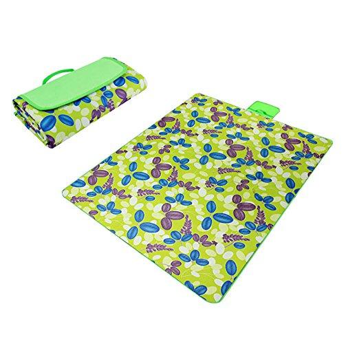 Sconosciuto verde e erba Paided portatile Coperta da picnic impermeabile spiaggia Mat Outdoor camping Moistureproof Gift 130  150 cm 51.18  59.06 in