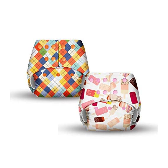 Basic by Superbottoms - 2 Pocket Diapers - Waterproof Outer ONLY - Without Dry Feel Pads