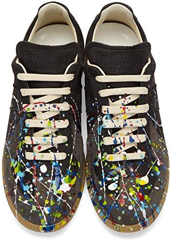 1225fabeb8f Amazon.com | Maison Margiela - Men's - Black Paint Splatter Leather ...