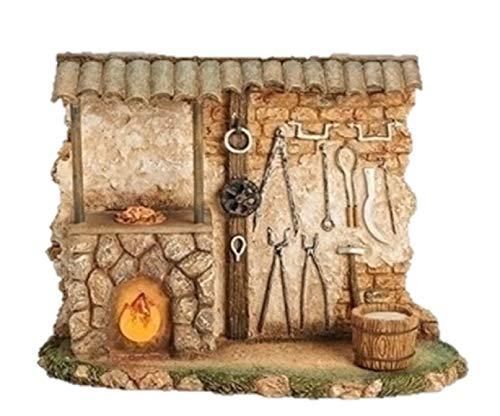 Fontanini Blacksmith Shop Light Up Building Italian Nativity Village Figurine