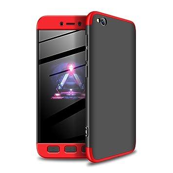 RINOJF Funda Compatible Xiaomi Redmi Go Carcasa[2 Vidrio Templado] 360° protección Caja Ultra Delgado Duro PC 3 en 1 Anti-Golpes Anti-Arañazos Case ...