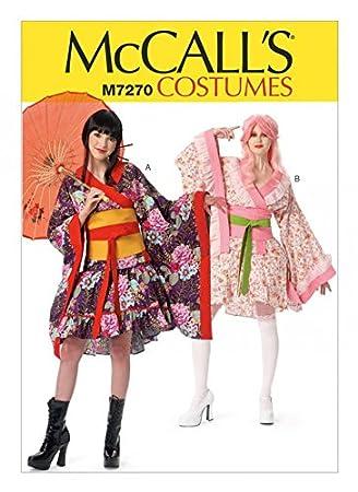 McCall \'s Damen Schnittmuster 7270 Kimono Top, Rock, Obi und Gürtel ...