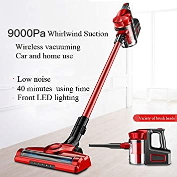 Red Cordless Lightweight Vacuum Cleaner Handheld for Pet Hair MOVEONE Stick Vacuum Cleaner, Powerful Cleaning Lightweight Handheld Vacuum with Rechargeable Lithium Ion Battery