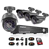 TMEZON 4CH 1080N AHD DVR Video Surveillance System + 4 Pcs Waterproof Outdoor HD 2000TVL 2.0MP 1080P Bullet Cameras Home Security Kit (1TB HDD) Review