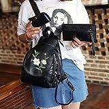 Sinwo Women Fashion Travel Backpack Shoulder Handbag Messenger Wallet Bag (B)