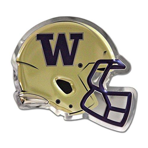 Chrome Domz NCAA Washington Huskies Mens Washington - Football Helmet Gold (Large) Washington - Football Helmet Gold Chrome Sign, Made from 100% Stainless Steel, ()