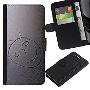 Stuss Case / Funda Carcasa PU de Cuero - Nieve sonriente - Sony Xperia Z3 Compact