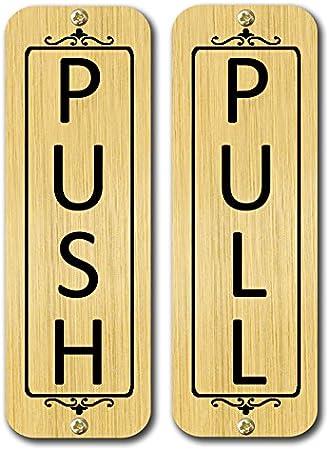 """Push Metal Door Sign 6/"""" x 2/"""""""