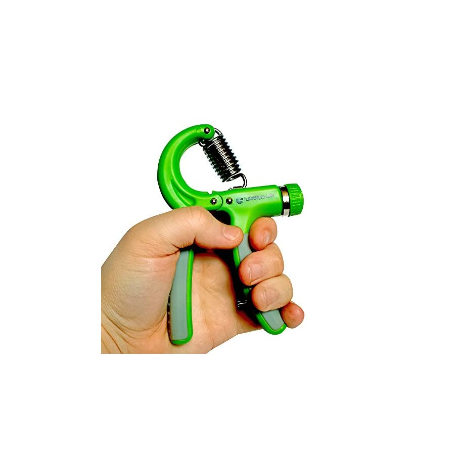 SportMonster Grip Strengthener Forearm Exerciser Hand Strength Grips with Adjustable Resistance 22 88 Lbs for Finger, Wrist and Arm Training (Green)