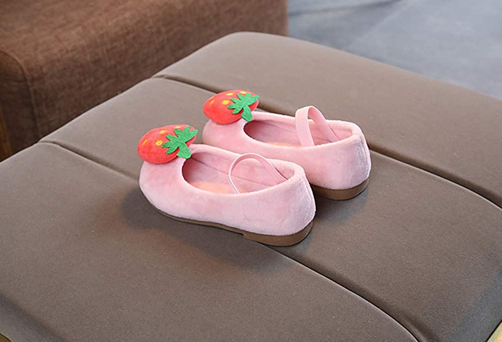LILICAT ✈✈ 2019 Otoño e Invierno de los niños más Terciopelo Fruta Fresa Dulce Princesa Zapatos Zapatos Niños Bebé Infantil Fresa Dulce Princesa Zapatos ...
