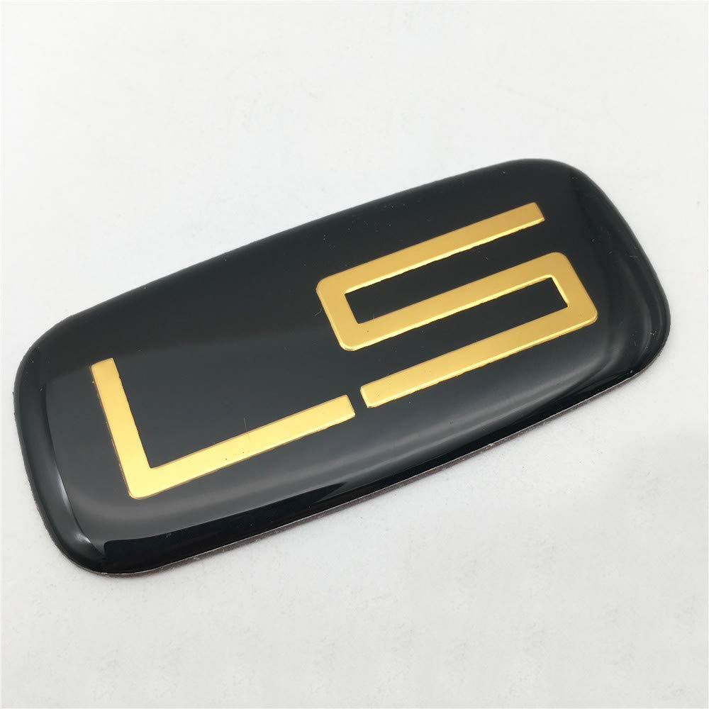 Gold 2PCS Custom Word LS Fit for Silverado Tahoe Suburban Aluminum with Epoxy Resin Side Badge Emblem Sticker 15036135