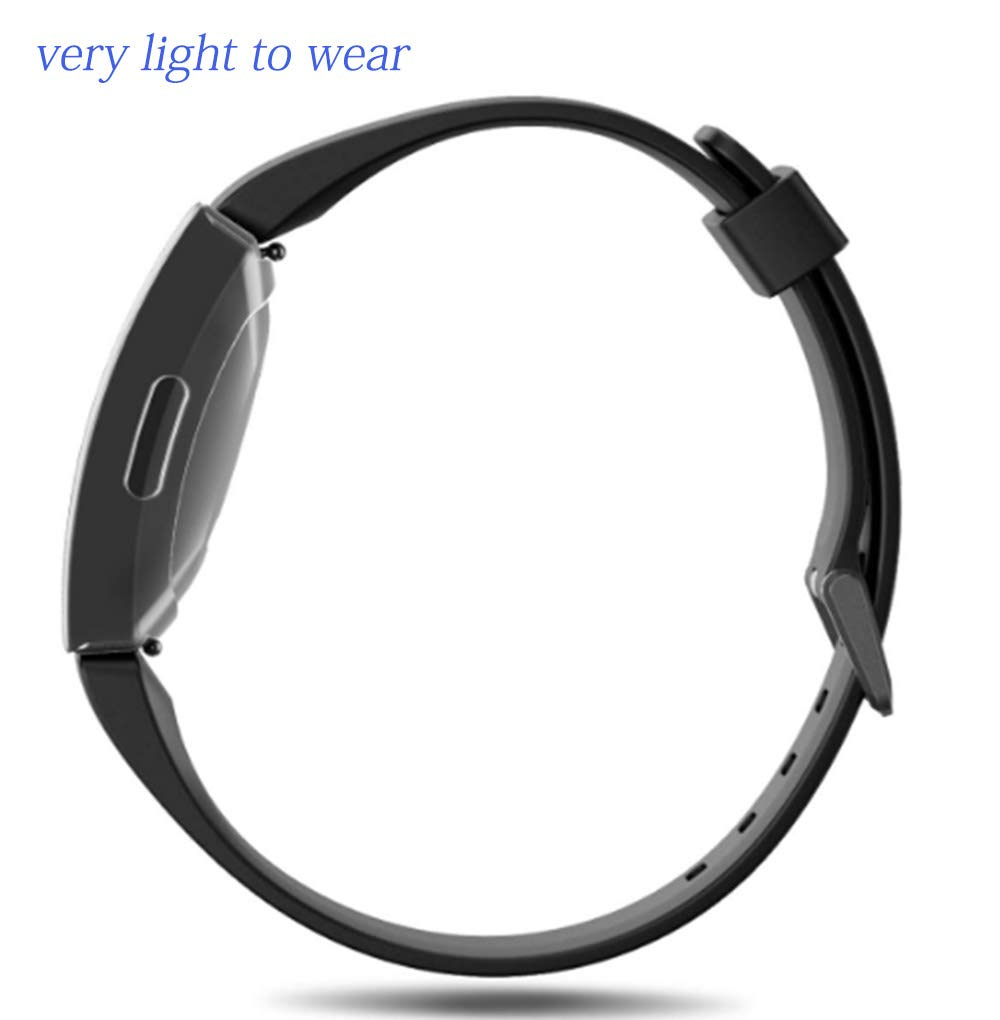Transparent Fentace Screen Protector Compatible with Fitbit Inspire//Inspire HR 2 Pcs TPU Cover Case