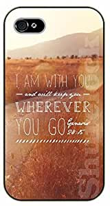 iPhone 6+ Plus Bible Verse - Brown grass. I am with you wherever you go - black plastic case / Verses, Inspirational and Motivational