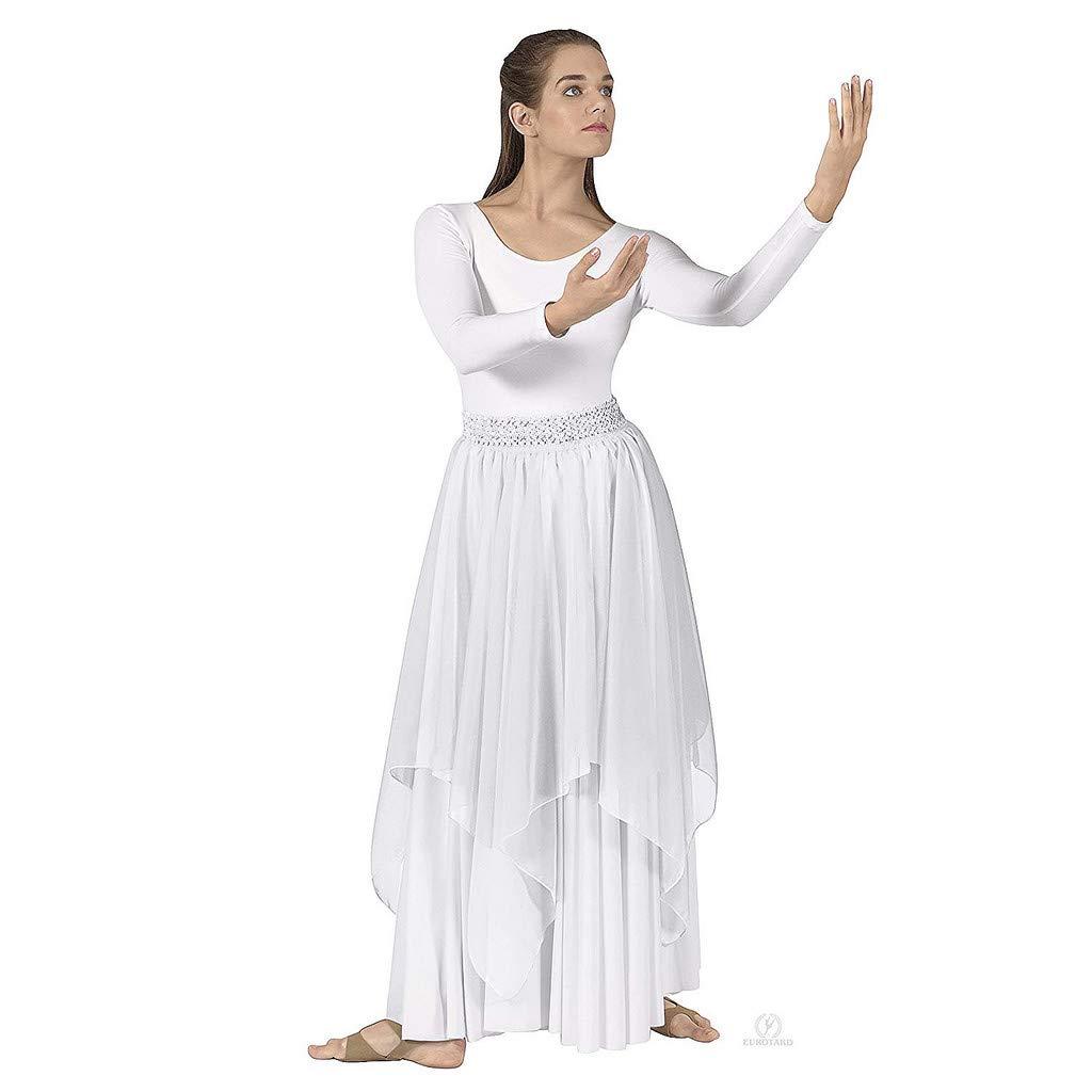 Eurotard Adult Single Handkerchief Skirt (39768) -WHITE -OSFA