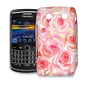 Phone Case For BlackBerry Bold 9700 - Watercolor Roses Back Wrap-Around