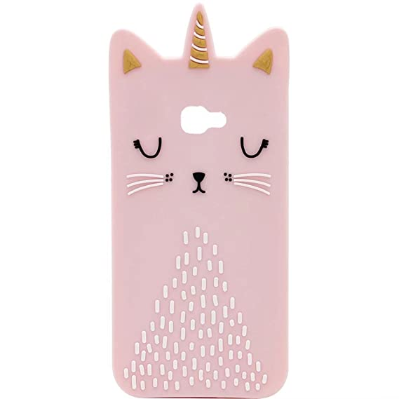 separation shoes db1a0 fb3f7 J7 Prime Silicone case, Anya 3D Cartoon Unicorn Cat Soft Silicone Rubber  Cool Fun Cute Fashion Hot Case for Samsung Galaxy J7 V/J7 2017/J7 Prime/J7  ...