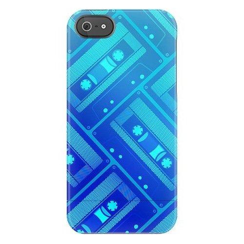 Uncommon-c0070–pour apple iPhone 5/5S-tS deflector coque de protection avec motif en forme de cassette (bleu)