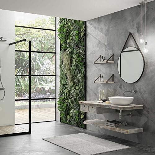 Dafne Italian Design - Mueble de baño moderno con lavabo suspendido - Castaño gris oxidado: Amazon.es: Hogar
