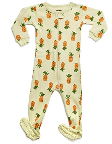 Leveret Organic Cotton Pineapple Footed Pajama Sleeper 3-6 Months