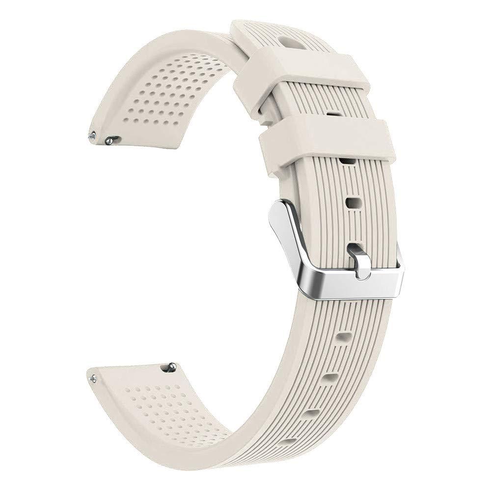 Lovewe Samsung Galaxy Watch Sport Soft Silicon Accessory,Watch Band Wirstband For Samsung Galaxy Watch 42mm (Beige)