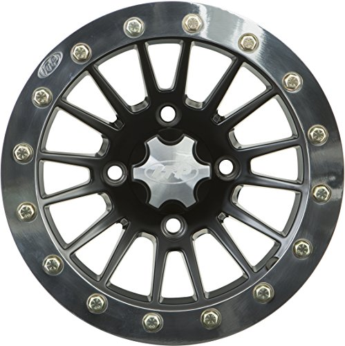 ITP SD Beadlock Machined/Matte Black ATV Wheel Front/Rear 14x7 4/156 - (4+3) by ITP (Image #1)
