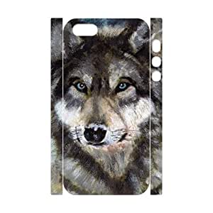 EZCASE Gray Wolf Phone Case For iPhone 5,5S [Pattern-4]
