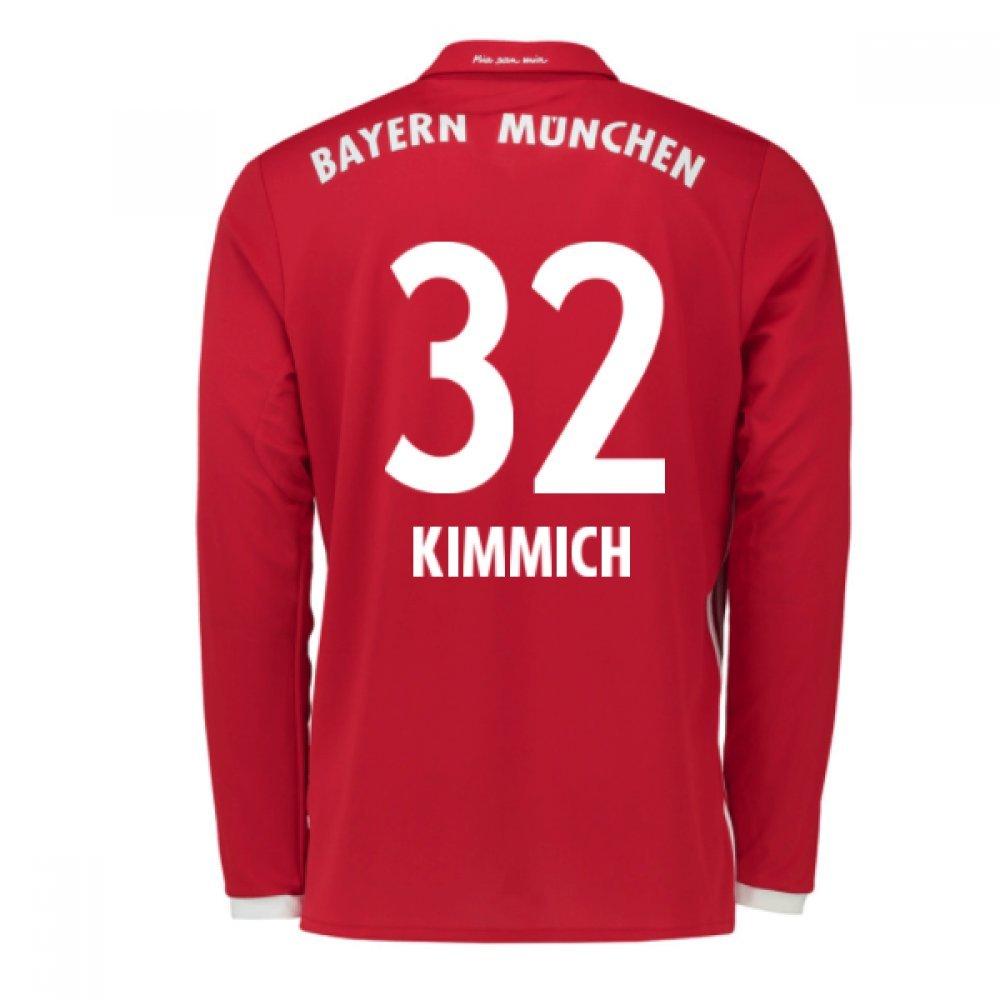 2016-17 Bayern Munich Long Sleeve Home Football Soccer T-Shirt Trikot (Joshua Kimmich 32) - Kids