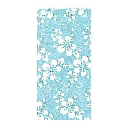 jesspad toalla de baño, diseño de flores Color Blanco y azul playa piscina toallas
