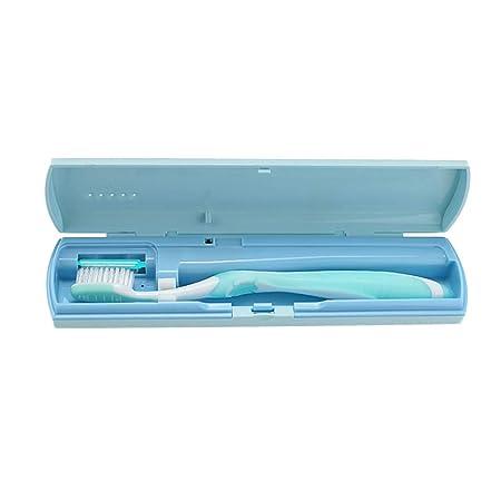 HEALIFTY Estuche para cepillo de dientes portátil UV, portaobjetos de viaje USB sin batería (azul): Amazon.es: Salud y cuidado personal