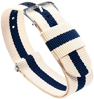 BARTON Watch Bands – Ballistic Nylon Military Style Straps – Choice of Color, Length & Width (18mm, 20mm, 22mm or 24mm)