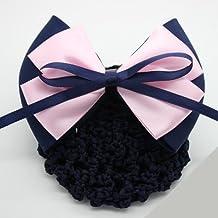 Black waiter etiquette fresh style headdress flower head flower net bag beautician nurses hotel property Korea hair for women girl lady