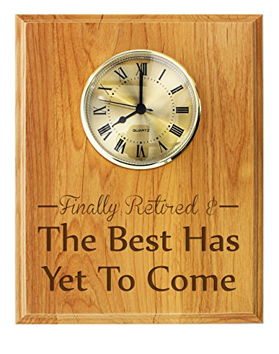 Funny Retirement Plaque Finally Retired Best Has Yet to Come Police Retirement Military Retirement Plaques for Women 7x9 Oak Wood Engraved Plaque Wood by ThisWear