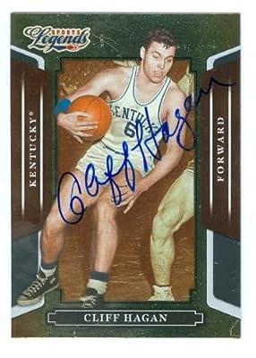 Cliff Hagan autographed Basketball Card (Kentucky Wildcats) 2008 Donruss Sports Legends #124