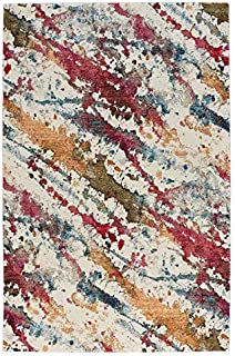 product image for Capel Flame-Splatter Ivory 3' x 5' Rectangle Machine Woven Rug
