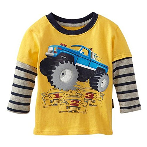 Metee Dresses Little Boys' kids long sleeve T-Shirts,3T(2-3 Years),Multi (T-shirt 2 Sleeve Long Kids)