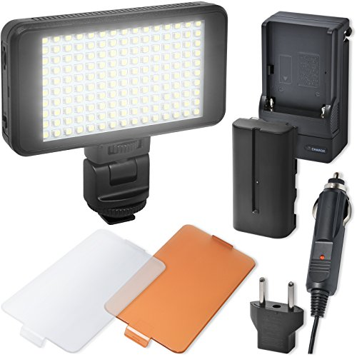 Slim Ultra Video - Precision Design 150 LED Ultra-Slim Video Light with 2 Diffusers, Battery & Charger