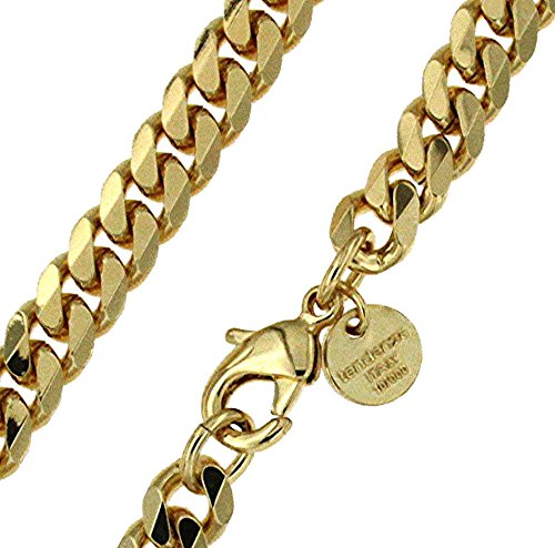 Curb Chain Necklace Or Bracelet Men Women Gift Jewelry From Factory tendenze ITALY 18ct Gold Doubl/é Or Rose Gold Doubl/é Or Silver Plated