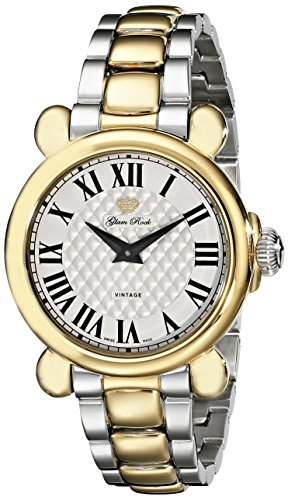 Glam Rock Women's GR28058 Vintage Glam Analog Display Swiss Quartz Two Tone Watch