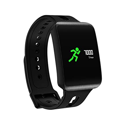 Reloj inteligente deportivo, VNEIRW TF1 0,96 OLED Pantalla IP67 Impermeable Bluetooth 4.0 Reloj inteligente deportivo ...