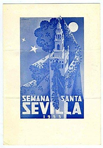 Semana Santa Sevilla 1955 Menu Hotel Madrid Seville Spain Holy Week