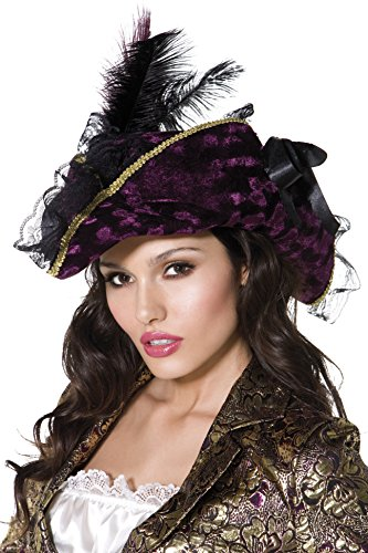 Womens Pirate Hat (Marauding Purple Pirate Hat)