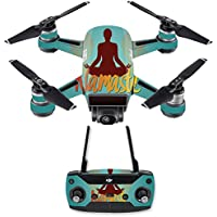 Skin for DJI Spark Mini Drone Combo - Namaste| MightySkins Protective, Durable, and Unique Vinyl Decal wrap cover | Easy To Apply, Remove, and Change Styles | Made in the USA