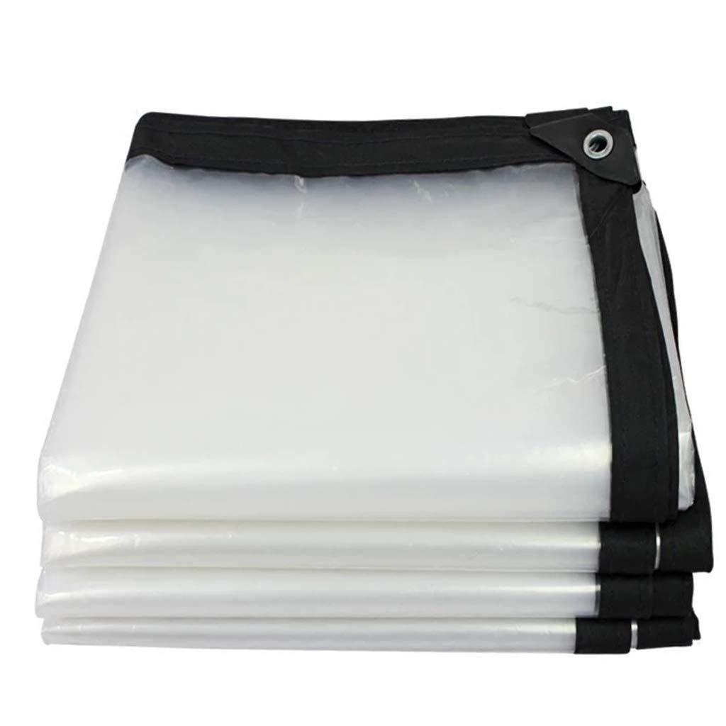 LQQFF Transparent Tarpaulin Transparent Tarpaulin Heavy Ribbed Plate Market stall Dust and rain Cover (Size : 3x6m)