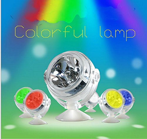 Fish Tank Light, Kitty&Puppy IP68 Convex Lens Design Amphibious Led Lights Spotlights Bulbs Lamps for 5 20 30 Gallon Aquarium Fish Tank Submersible Diving Decorative Multicolor
